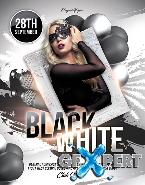 Black and White Party V2405 2020 Flyer PSD Template