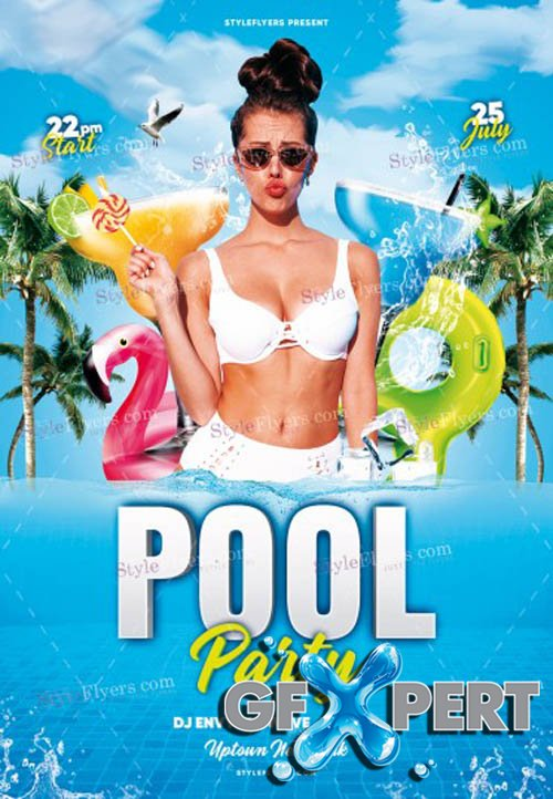 Pool Party V1506 2020 PSD Flyer