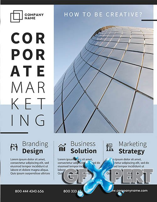 Corporate Marketing V2406 2020 Premium PSD Flyer Template